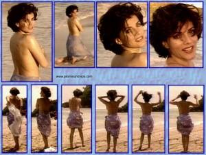 Birgit Schrowange Oben Ohne am Strand