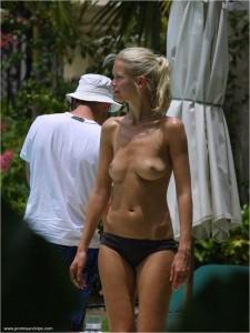 Claudia Schiffer Oben Ohne mit nackten Titten