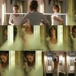 Felicitas Woll im transparenten weißen T-Shirt