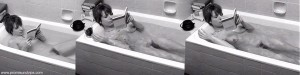 Hannelore Hoger nackt in der Badewanne