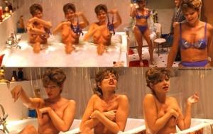 Maren Gilzer Oben Ohne nackt in der Badewanne