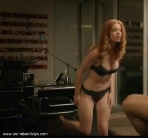 Marleen Lohse in sexy schwarzer Unterwäsche